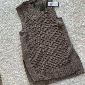 NWT BCBG Maxazria brown sleeveless sweater top